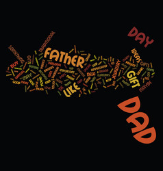 gift ideas for father s day june text background vector image