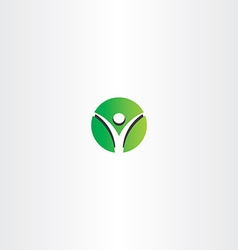 green man circle logo sign vector image vector image