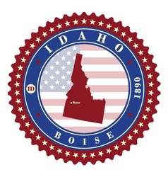 Label sticker cards of State Idaho USA vector image vector image