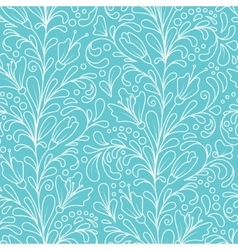 Ornate floral seamless texture hand draw endless vector image