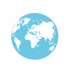 planet earth icon earth globe isolated on white vector image vector image