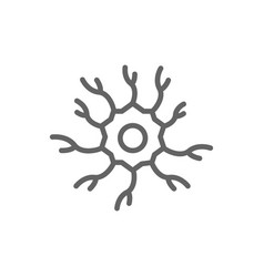 simple neuron nerve line icon symbol and sign vector image vector image