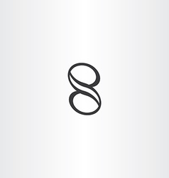black number eight 8 icon design element vector image vector image