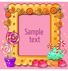 Card with space for dexta and sweets around vector image vector image