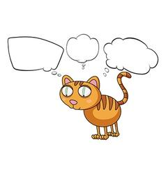 Cartoon Thinking Cat vector image