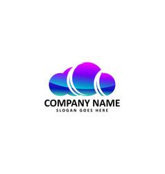 color cloud logo vector image