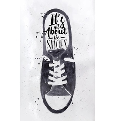 Poster mens sport shoes vector image
