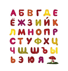 russian glossy abc vector image