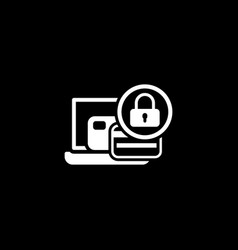 secure payment icon flat design vector image vector image