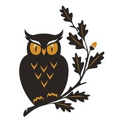 symbol owl oak details vector image vector image