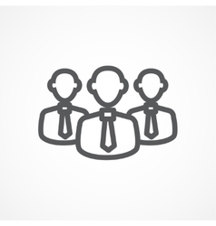 Teamwork line icon vector image vector image