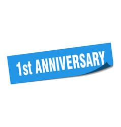 1st anniversary sticker 1st anniversary square vector