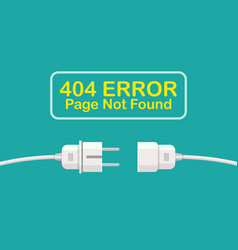 404 page not found error vector