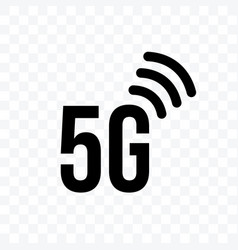 5g internet network generation icon on vector