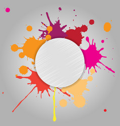abstract background of colored blots vector image