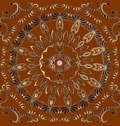 arabesque vintage seamless mandala pattern vector image