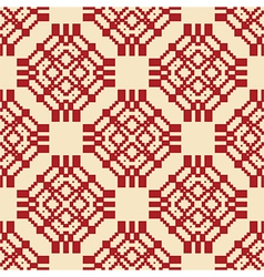 Authentic seamless pattern red vector