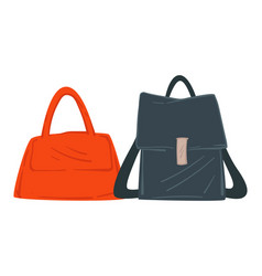 bag with straps and handles women fashion style vector image