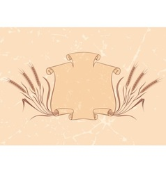 banner with wheat beige vector image