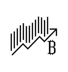 Bitcoin statistics graphic icon vector