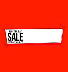 black friday sale wide banner with offer details vector image