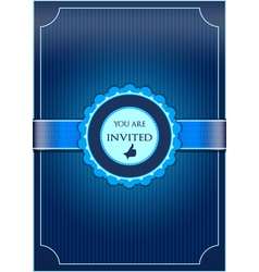 Blue abstract invitation vector image