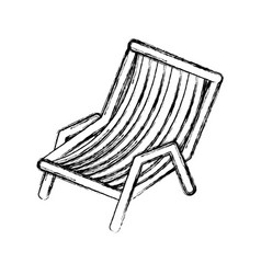 Blurred thick silhouette of beach chair vector