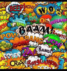 bright comics speech bubbles background seamless p vector image