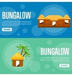 Bungalow Website Template Set Horizontal banners vector image