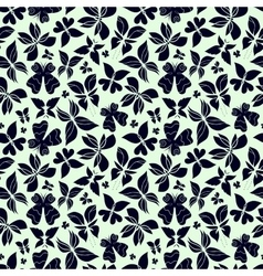 Butterflies Pattern White and Black vector