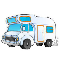 Cartoon camping van vector