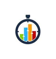 chart time logo icon design vector image