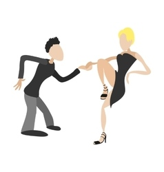 Couple dancing tango cartoon vector