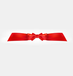 design product red ribbon and bow 3d realistic vector image