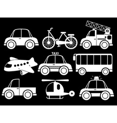 Different type of transportations vector