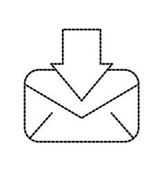download message email information letter vector image