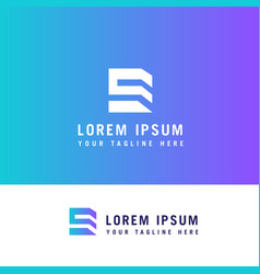 e letter property logo template design concept vector image