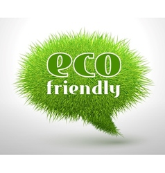 Eco friendly concept or emblem vector