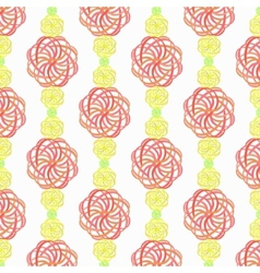 Elaborate colorful vertical pattern vector