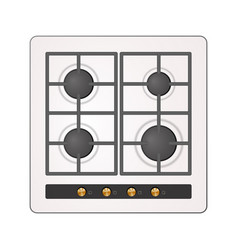Electric cooking hob vector