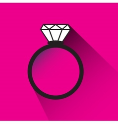 Engagement ring vector image