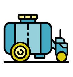 Farm water cistern icon color outline vector