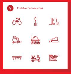 Farmer icons vector