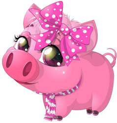 Glamour pig vector