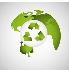 Globe earth environment eco icon design vector