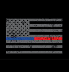 Grey police and firefighter flag background vector