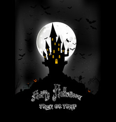 halloween background with scary house vector image