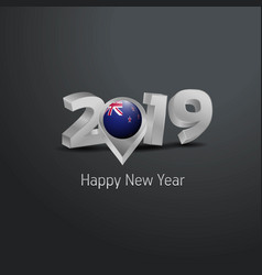 Happy new year 2019 grey typography with new vector