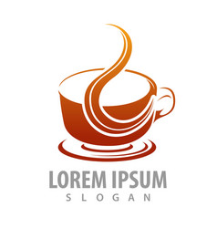 hot coffee cup logo concept design symbol graphic vector image