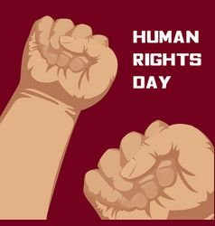Human rights day concept background cartoon style vector